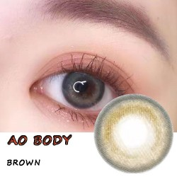 Ao Body Brown Color Contact Lenses (2PCS/PAIR)