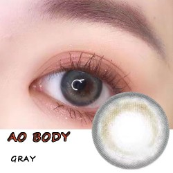 Ao Body Gray Color Contact Lenses (2PCS/PAIR)