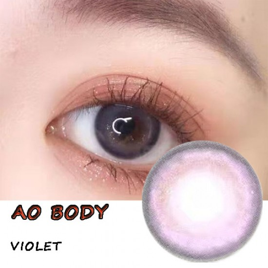 B-AO BODY VIOLET COLOR CONTACT LENS (2PCS/PAIR)