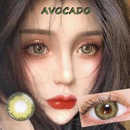 B-AVOCADO COLOR SOFT CONTACT LENS (2PCS/PAIR)