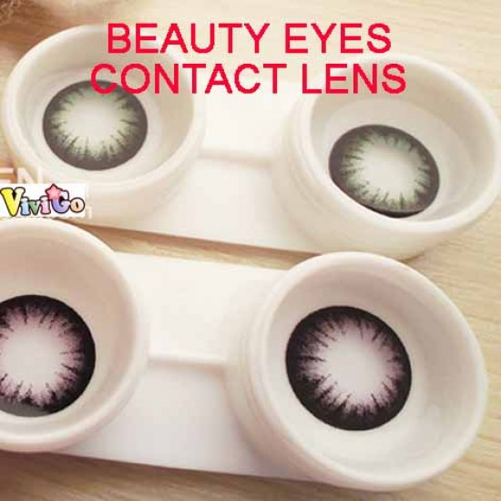 COLOR SOFT CONTACT LENS BEAUTY EYES  BLACK (PAIR)