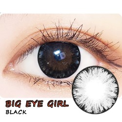 COLOR SOFT CONTACT LENS BIG EYE GIRL BLACK (PAIR)