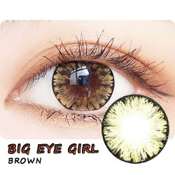 COLOR SOFT CONTACT LENS BIG EYE GIRL BROWN (PAIR)