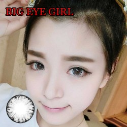COLOR SOFT CONTACT LENS BIG EYE GIRL GRAY (PAIR)