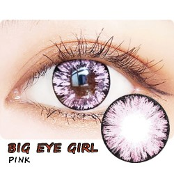 COLOR SOFT CONTACT LENS BIG EYE GIRL PINK (PAIR)