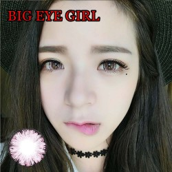 B-BIG EYE GIRL PINK COLOR SOFT CONTACT LENS (2PCS/PAIR)