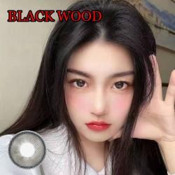 B-BLACK WOOD COLOR CONTACT LENS (2PCS/PAIR)