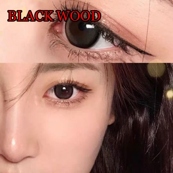 Black Wood Color Contact Lenses (2PCS/PAIR)