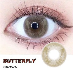 BUTTERFLY BROWN COLOR SOFT CONTACT LENS (PAIR)