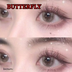 B-BUTTERFLY BROWN COLOR SOFT CONTACT LENS (2PCS/PAIR)