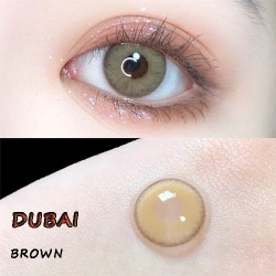 B-DUBAI BROWN COLOR CONTACT LENS (2PCS/PAIR)