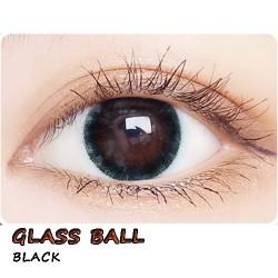 COLOR SOFT CONTACT LENS GLASS BALL BLACK (PAIR)