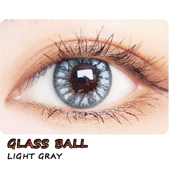 COLOR SOFT CONTACT LENS GLASS BALL GRAY (PAIR)