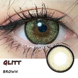 GLITT BROWN COLOR SOFT CONTACT LENS  (2PCS/PAIR)