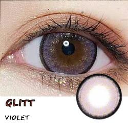 GLITT VIOLET COLOR SOFT CONTACT LENS  (2PCS/PAIR)