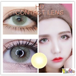 COLOR SOFT CONTACT LENS HD  YELLOWGREEN(PAIR)