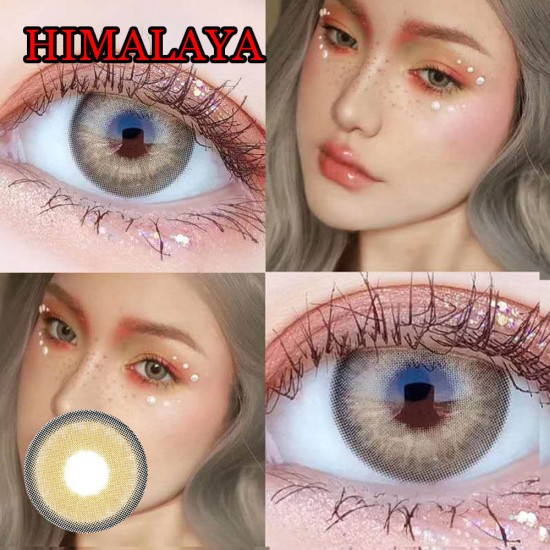 B-HIMALAYA BROWN COLOR CONTACT LENS (2PCS/PAIR)