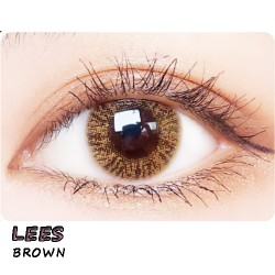COLOR SOFT CONTACT LENS LEES  BROWN (PAIR)