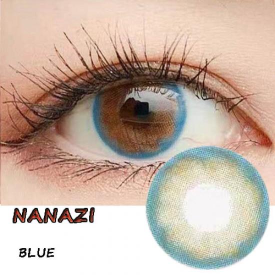 NANAZI BLUE COLOR SOFT CONTACT LENS  (2PCS/PAIR)
