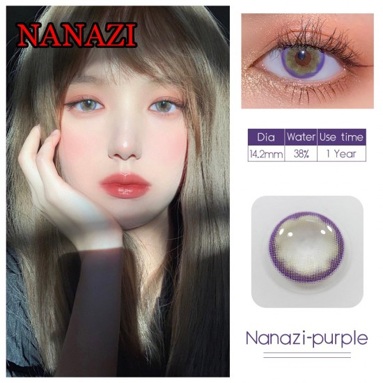 NANAZI VIOLET COLOR SOFT CONTACT LENS  (2PCS/PAIR)