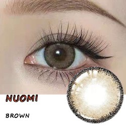 NUOMI BROWN COLOR SOFT CONTACT LENS  (2PCS/PAIR)
