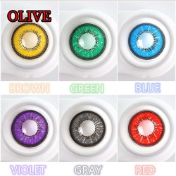 CL365 Olive Brown Color Cosplay Contact Lenses (2PCS/PAIR)