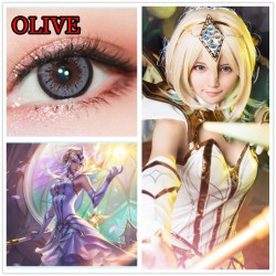 CL361 Olive Gray Color Cosplay Contact Lenses (2PCS/PAIR)
