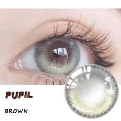 B-PUPIL BROWN COLOR CONTACT LENS (2PCS/PAIR)