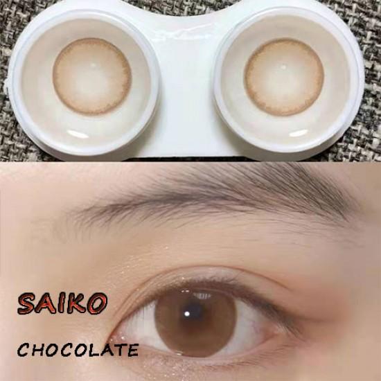 B-SAIKO CHOCOLATE COLOR SOFT CONTACT LENS (2PCS/PAIR)