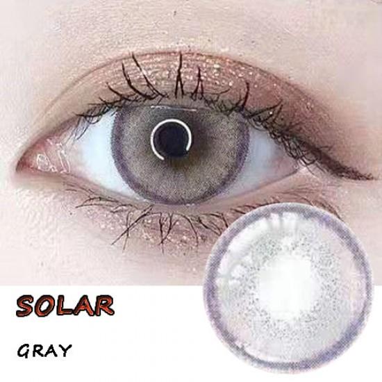 SOLAR GRAY COLOR SOFT CONTACT LENS (2PCS/PAIR)
