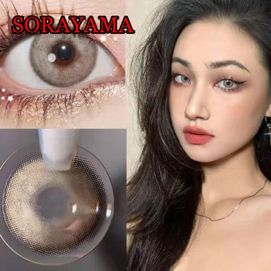 B-SORAYAMA GRAY COLOR CONTACT LENS (2PCS/PAIR)