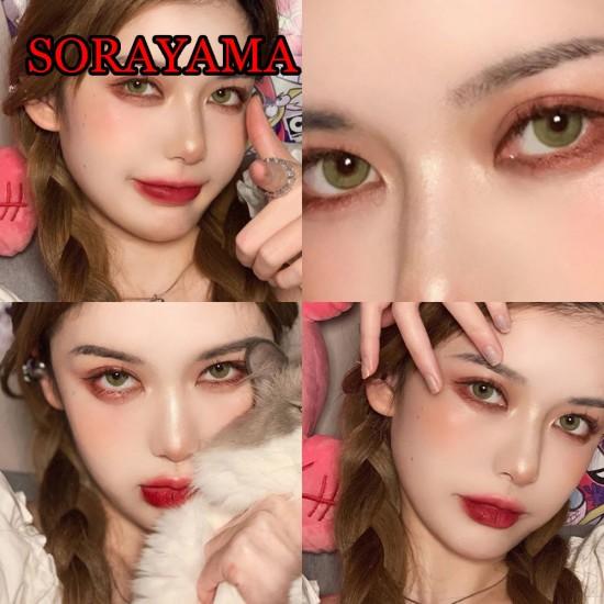 B-SORAYAMA GREEN COLOR CONTACT LENS (2PCS/PAIR)