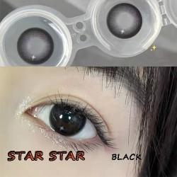 B-STAR STAR BLACK COLOR SOFT CONTACT LENS (2PCS/PAIR)