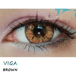 COLOR SOFT CONTACT LENS VIGA BROWN (PAIR)