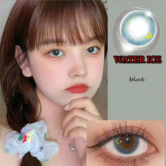 WATER ICE BLUE COLOR SOFT CONTACT LENS (2PCS/PAIR)