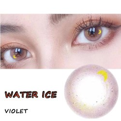 B- Water Ice Violet Color Soft Contact Lens(2pcs/pair)