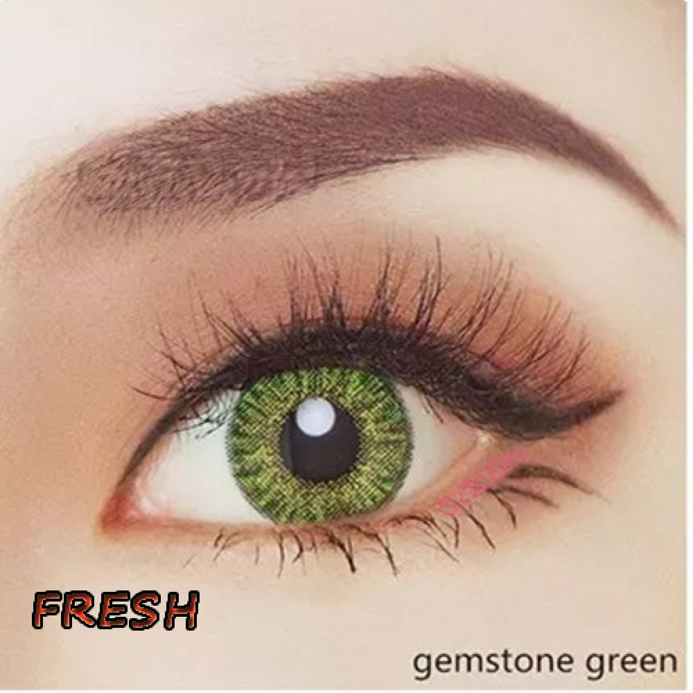 COLOR SOFT CONTACT LENS FRESH GEMSTONE GREEN (PAIR)
