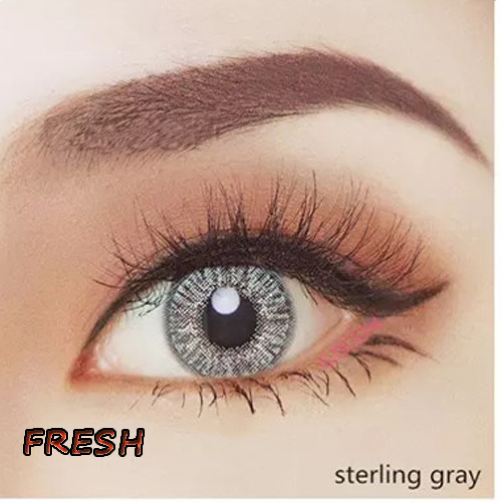 COLOR SOFT CONTACT LENS FRESH STERLING GRAY (PAIR)