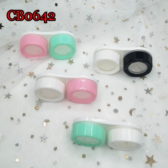MACAROON COLORFUL CAP WITH WINDOW CONTACT LENS DUALBOX CB0642