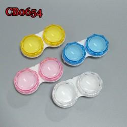 CB0654 Diamond Sharp Big Size Colorful Contact Lens Case