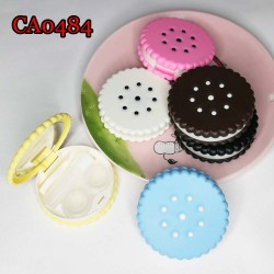 D-CA0484 BISCUIT SEASAME CONTACT LENS CASE