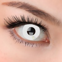 CL003 WHITE RING COSPALY SOFT CONTACT LENS (PAIR)