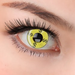 CL007 YELLOW DOLLAR COSPALY COLOR CONTACT LENS (PAIR)