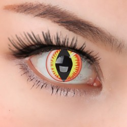 CL073 Red Dragon Eye yearly used cosplay soft Contact Lenses (PAIR)