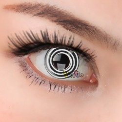 CL113 BLACK WHITE SPRIALCOSPLAY COLOR CONTACT LENS (PAIR)