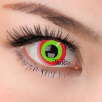 CL124 RED GREEN RING COSPLAY COLOR CONTACT LENS (PAIR)