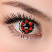 COSPLAY COLOR CONTACT LENS CL140 SASUKE MANGEKYOUN  (PAIR)