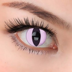 CL142 Funky Pink Cat Contact Lenses (PAIR)