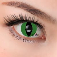 CL173 GREEN CATEYE COSPLAY COLOR CONTACT LENS (PAIR)