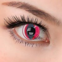 CL201 RED CATEYE COSPLAY COLOR CONTACT LENS (PAIR)